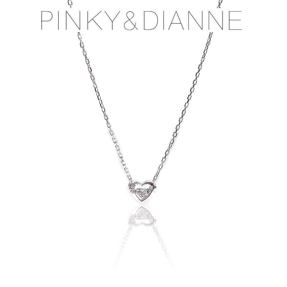 Pinky&Dianne ピンキー&ダイアン ネックレス VPCPD51590 ハート SV ロジウム コーティング キュービック ジルコニア エクセルワールド ブランド プレゼントにも おしゃれ アクセサリー TP1