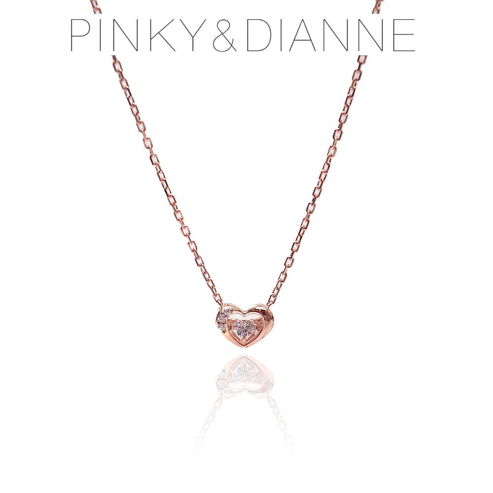 Pinky&Dianne ピンキー&ダイアン ネックレス VPCPD51591 ハート SV ピンクゴールド コーティング キュービック ジルコニア 決算セール&ホワイトデーおすすめ商品
