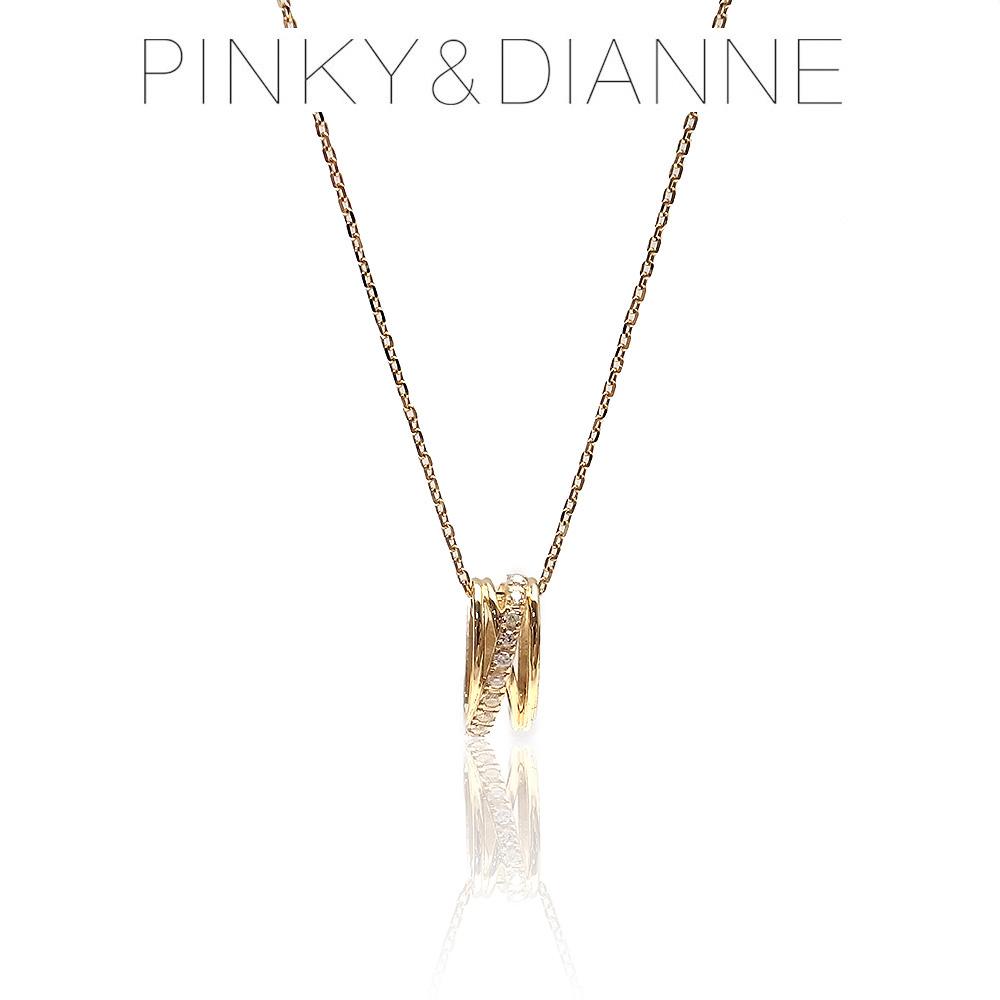Pinky&Dianne ピンキー&ダイアン ネックレス VPCPD51592 SV イエローゴールド コーティング キュービック ジルコニア 決算セール&ホワイトデーおすすめ商品