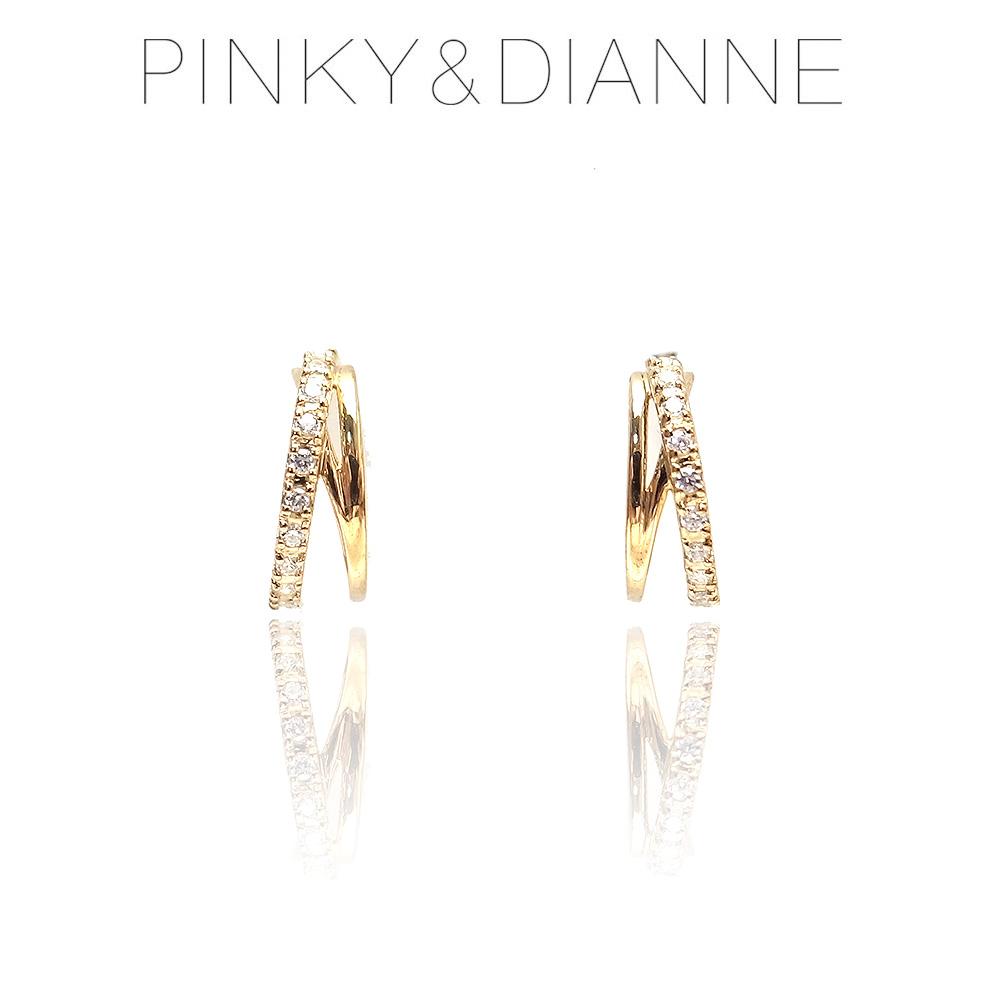 ピンキー&ダイアン ピアス Pinky&Dianne VPRPD52209 SV イエローゴールド コーティング キュービック ジルコニア エクセルワールド ブランド プレゼントにも おしゃれ アクセサリー TP1