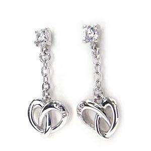 ピンキー&ダイアン ピアス Pinky&Dianne 52127 シルバー925 Endless Heart エンドレスハート エクセルワールド ブランド プレゼントにも おしゃれ アクセサリー TP1