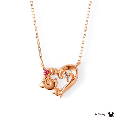 THE KISS ザ キッス 【ディズニーコレクション】ディズニー ミニーマウス  ピンクゴールド ネックレス DIーPN2905DM
