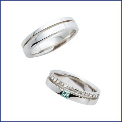 スウィートブルーダイヤモンド SWEET BLUE DIAMOND マリッジリング (結婚指輪) 1231456ー1231457