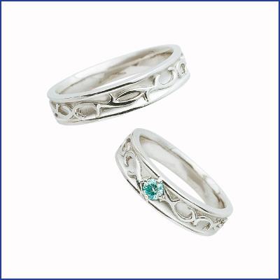 スウィートブルーダイヤモンド SWEET BLUE DIAMOND マリッジリング (結婚指輪) 1231464ー1231465 エクセルワールド プレゼントにも