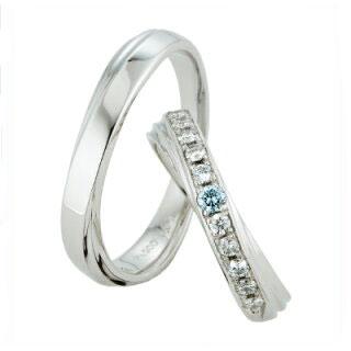 スウィートブルーダイヤモンド SWEET BLUE DIAMOND マリッジリング (結婚指輪) 1264984ー1264952 エクセルワールド プレゼントにも