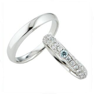 スウィートブルーダイヤモンド SWEET BLUE DIAMOND マリッジリング (結婚指輪) 1264986ー1264967