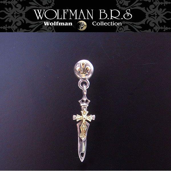 ウルフマン BRS WOLFMAN B.R.S ピアス ブレードティアドロップ ゴールド E12G 【送料無料でお届け】