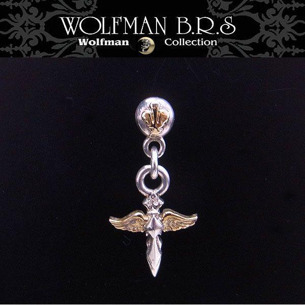 ウルフマン BRS WOLFMAN B.R.S ピアス エンジェルティアドロップ ゴールド E13G 【送料無料でお届け】 エクセルワールド ブランド プレゼントにも おしゃれ アクセサリー TP
