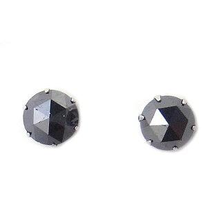 PT プラチナ ブラックダイヤモンド ピアス 1.0ct DAPE14PNNC エクセルワールド プレゼントにも おしゃれ アクセサリー
