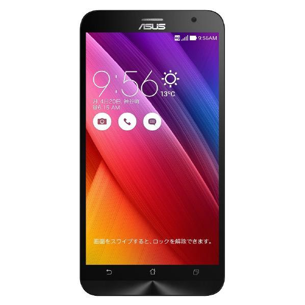 【国内正規品】ASUSTek ZenFone2 ( SIMフリー / Android5.0 / 5.5型ワイド / デュアルmicroSIM / LTE ) (ブラック, 2GB/32GB) ZE551ML-BK32  0113_flash