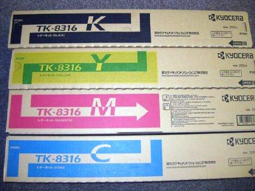 【メーカー純正】新品 京セラ TASKalfa 2550ci用トナーTK-8316 CMYK4色セット kyocera TASKalfa2550Ci用  0113_flash