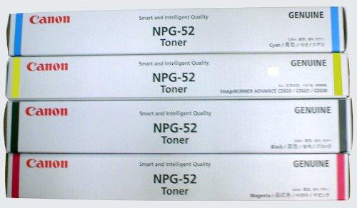 【メーカー純正】新品 Canon(キャノン) トナーカートリッジ NPG-52 4色セット iR-ADV C2020/C2020F/C2030/C2030F//C2220/C2220F//C2230/C2230F