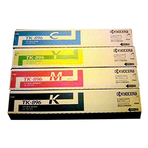 【送料無料】メーカー純正 新品 京セラ KYOCERA トナーカートリッジ TK-896 (K・Y・M・C) 4色セット (TASKalfa 255c 205c 256ci 206ci) 0113_flash