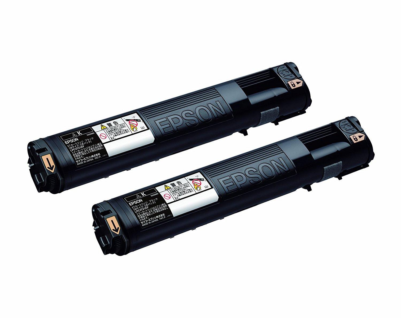 【メーカー純正】新品 エプソン EPSON ETカートリッジ Mサイズ ブラック LPC3T21KP 2本パック (LP-S5300/LP-M5300) 0113_flash