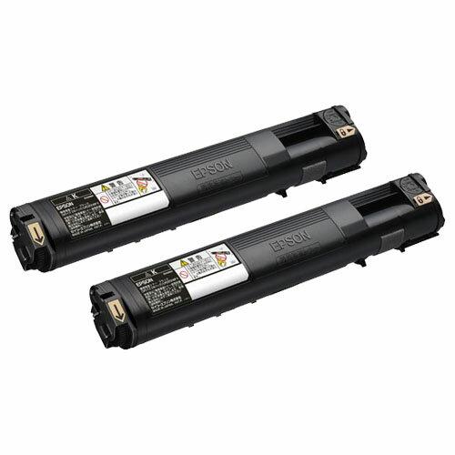 【メーカー純正】新品 EPSON エプソン 環境推進トナー Mサイズ LPC3T21KPV ブラック2本 /LP-M5300 LP-M5300AZ 0113_flash