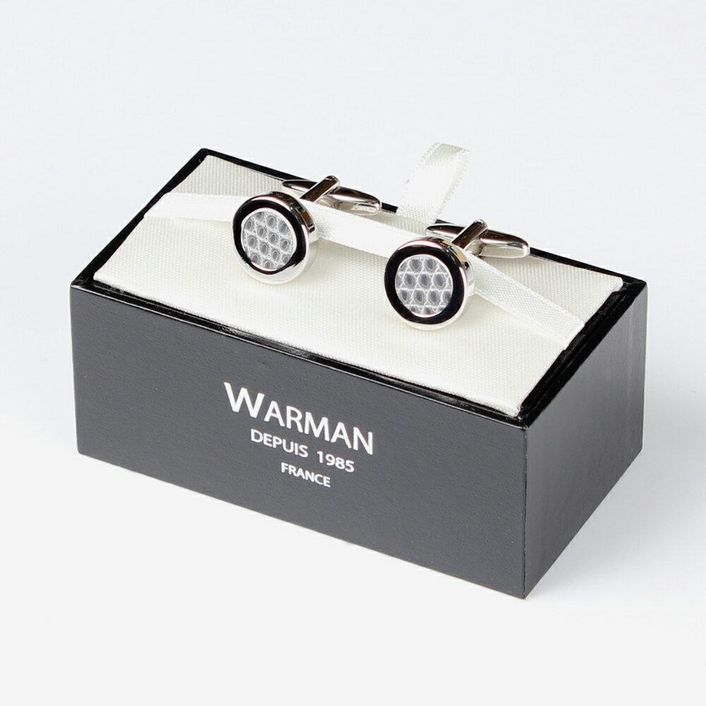 父の日や誕生日などギフトに最適!WARMAN【ワルマン】 2ウェイ レザーカフス グレー