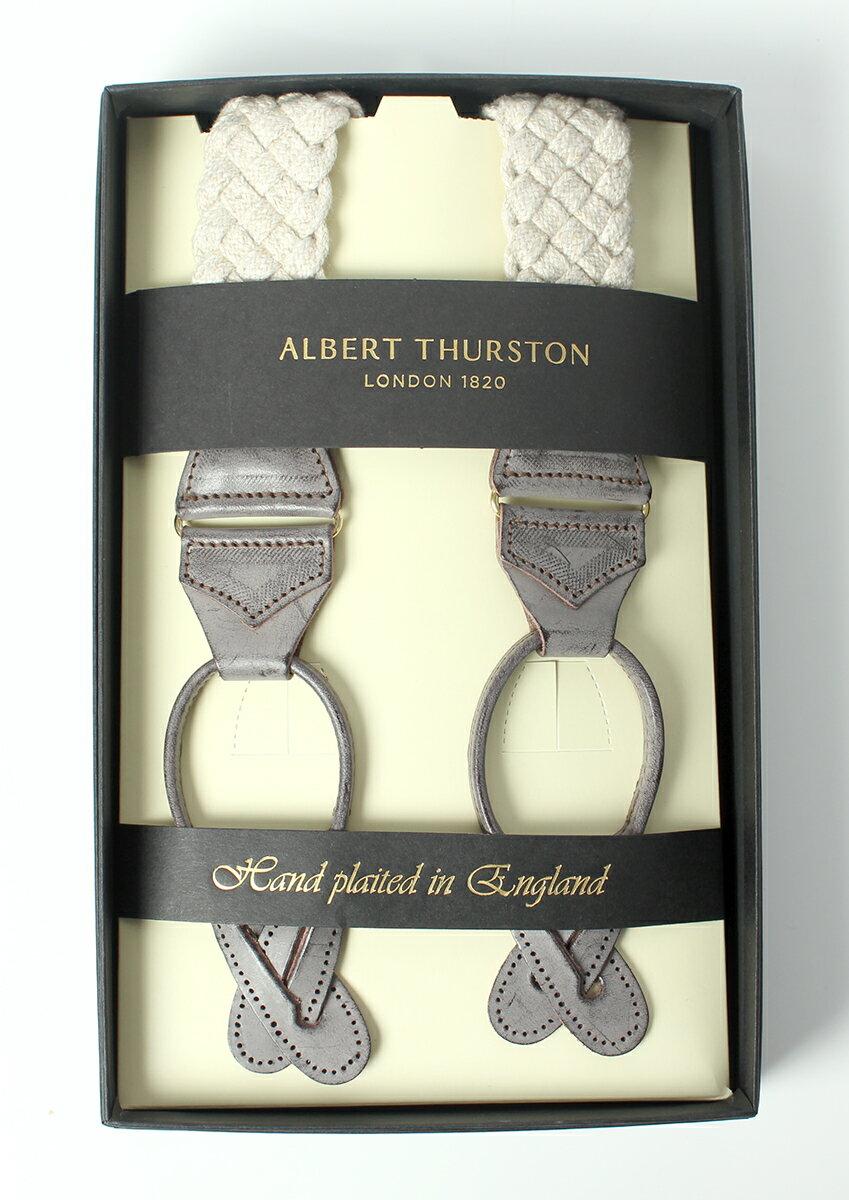 アルバートサーストン ALBERT THURSTON メンズサスペンダー リネンブレード ベージュ Y型