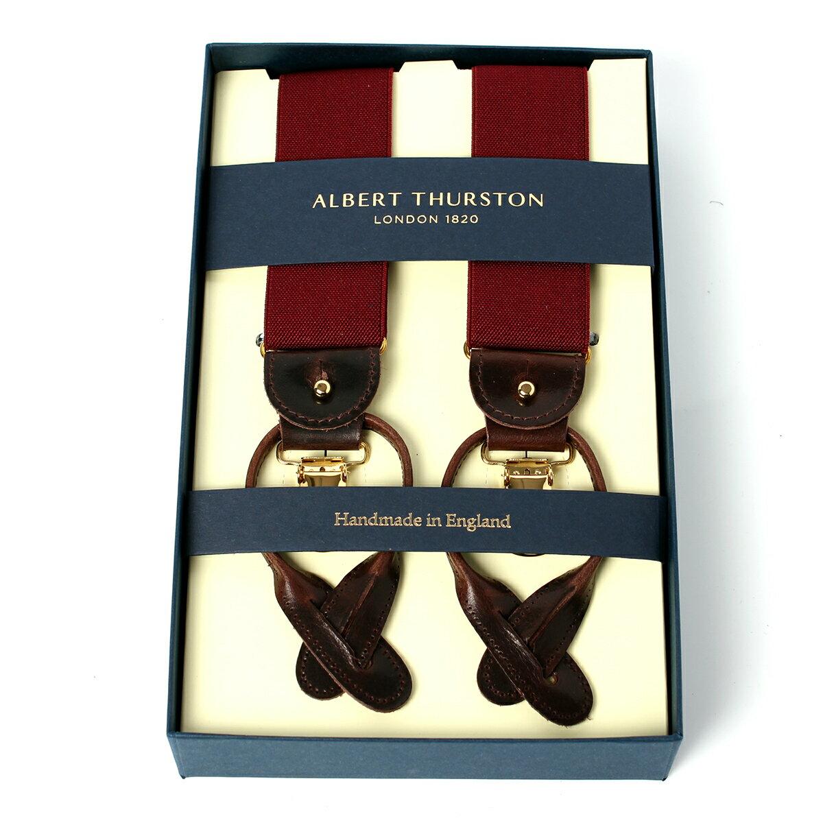 アルバートサーストン サスペンダー ワインレッド エラスティック(ゴム)/ALBERT THURSTON BRACES Wine Elastic メンズ ブランド