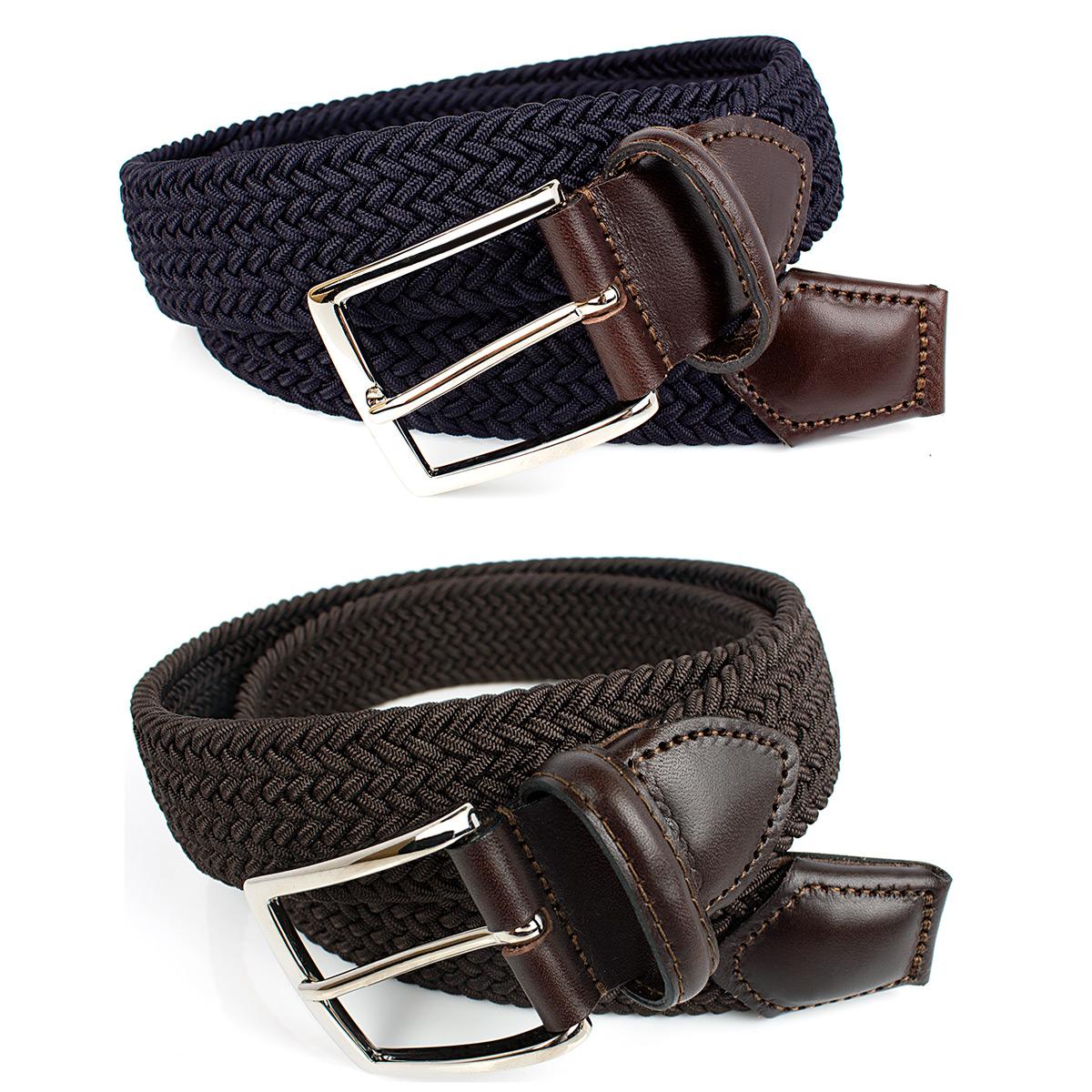 イタリア製の素材 縫製にこだわった上質なベルトブランド ATHISON ブラウン ネイビー 大幅値下げランキング ストレッチメッシュベルト 供え