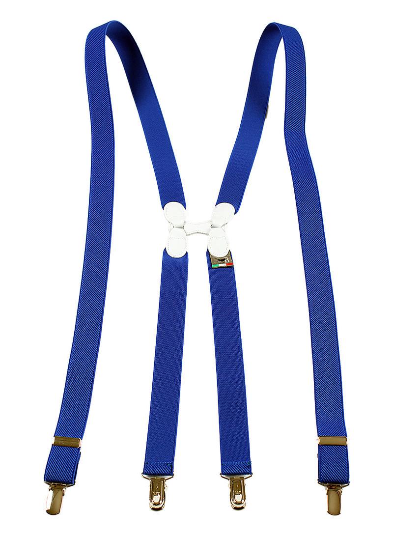 BRETELLE&BRACES ゴム製サスペンダー H型 ブルー メンズ ブランド