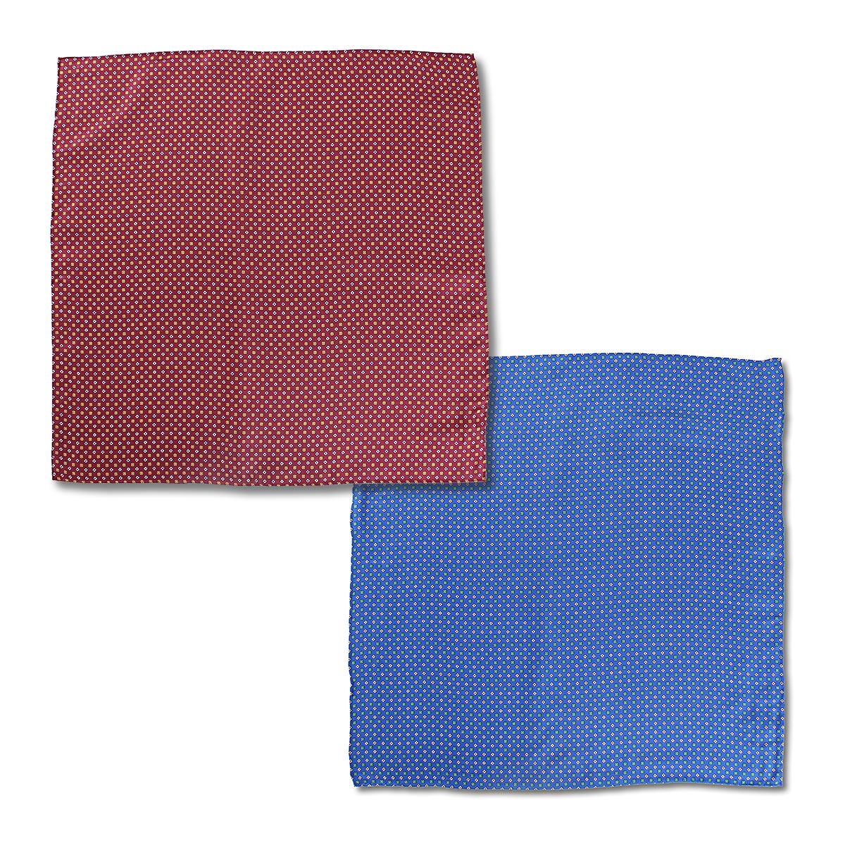 安い 公式サイト 激安 プチプラ 高品質 肌触りがとても滑らかなイタリアシルク 日本で縫製した上質なスカーフ イタリアプリントシルクスカーフ ワインレッド ブルー 小花柄