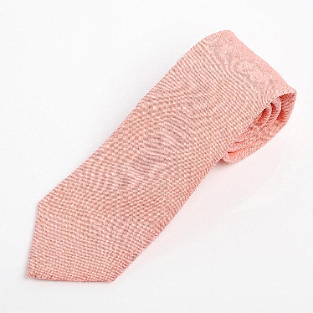 世界的にも上質なリネンを使用したさわやかなネクタイ 営業 Harrisons ハンドメイドリネンタイ ピンク 登場大人気アイテム