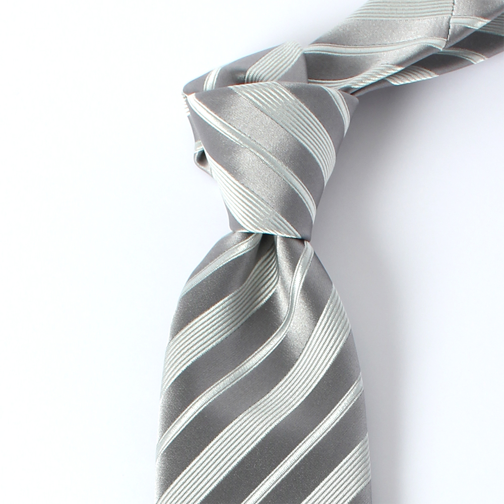 モーニング用ストライプネクタイ ブラック 日本製/高級フォーマルネクタイ/VANNERSシルク使用