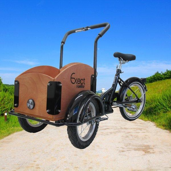 別倉庫からの配送 子供用三輪自転車 前12インチ 後16インチ 組み立て式車体 黒 本日限定
