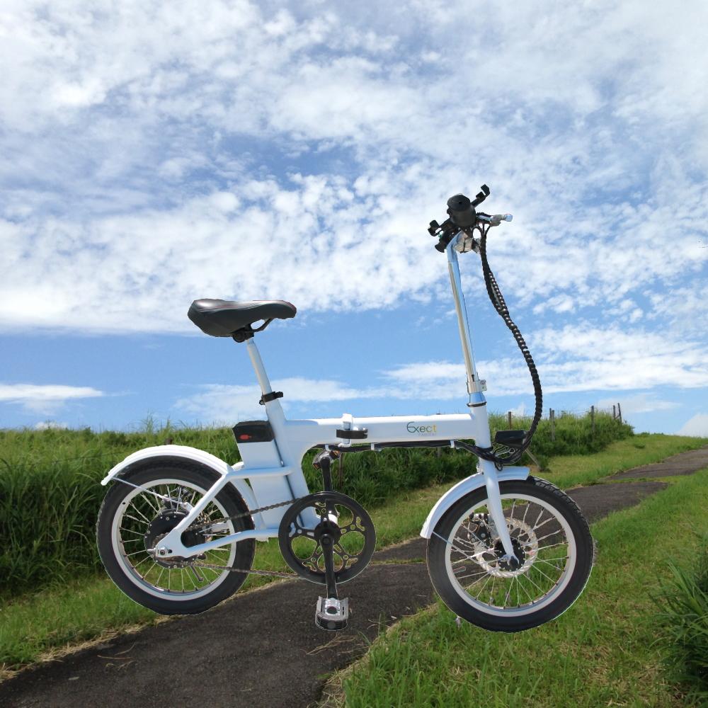 【漕ぐのが楽で爽快感ある走り】フル電動アシスト自転車 Exect familiar EX16BS(16インチ)