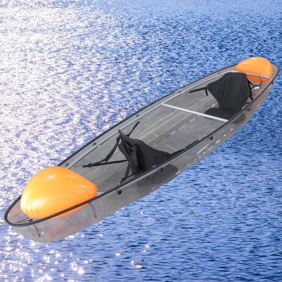 クリアカヤック弐号艇 Exect EX333Second オール付き 2人乗り 透明 タンデム 海 シーカヤック
