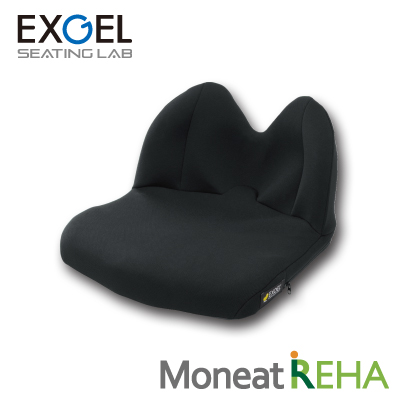 ジェルクッション 腰痛対策 低反発 EXGEL モニートREHA MOR01 エクスジェル モニート リハ 車椅子 車いす クッション 座布団 背座 一体型 ざぶとん 体圧 分散 褥瘡 予防 じょくそう 床ずれ 姿勢 保持 腰 お尻 痛い 加地