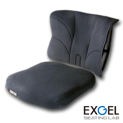 ジェルクッション 腰痛対策 低反発 EXGEL アウル サポート シート バック セット OWLS-S01B01 エクスジェル 車椅子 車いす クッション 座布団 ざぶとん 体圧 分散 褥瘡 予防 じょくそう 床ずれ 加地