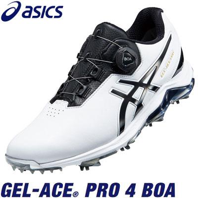 asics(アシックス) GEL-ACE PRO 4 BOA 1113A002 メンズ ゴルフシューズ ホワイト/ブラック