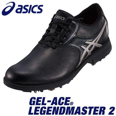 asics(アシックス) GEL-ACE LEGENDMASTER 2 メンズ ゴルフ シューズ TGN918 ブラック/ライトグレー