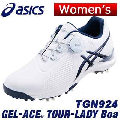 asics(アシックス) GEL-ACE TOUR-LADY Boa レディース ゴルフ シューズ TGN924 ホワイト/インディゴブルー