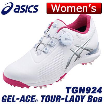 【ゲリラセール開催中】asics(アシックス) GEL-ACE TOUR-LADY Boa レディース ゴルフ シューズ TGN924 ホワイト/シルバーグレー