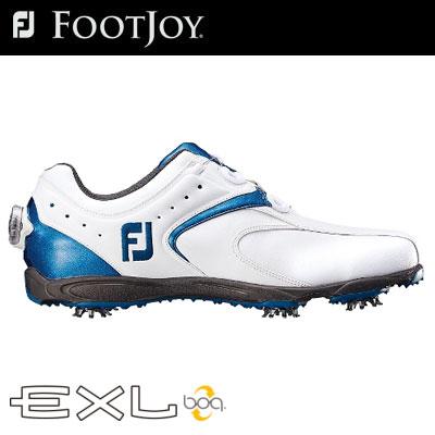 【ゲリラセール開催中】FOOTJOY(フットジョイ) EXL Boa 2016 メンズ ゴルフ シューズ ホワイト/ブルー 45141 (W)