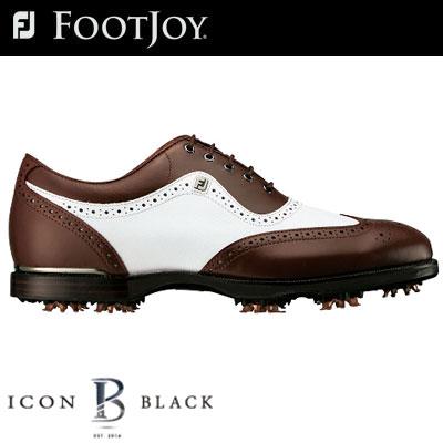 フジオカシ FOOTJOY (フットジョイ) ICON シューズ Black (アイコン ブラック) ゴルフ ブラック) シューズ ICON 52011 (W), FLAGS:623a237c --- canoncity.azurewebsites.net
