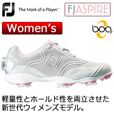 【ゲリラセール開催中】FOOTJOY(フットジョイ) ASPIRE Boa レディース ゴルフシューズ 98898 (ライトグレー) W