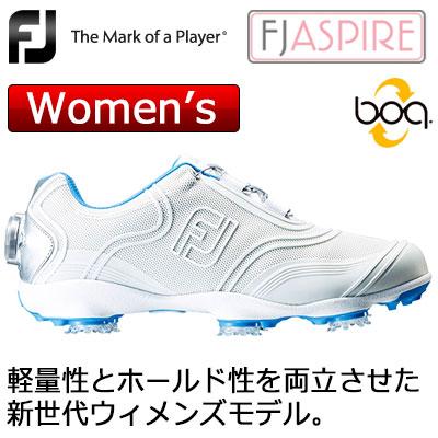 軽量レディース ボア スパイクシューズ FOOTJOY フットジョイ ASPIRE 選択 ホワイト ゴルフシューズ W レディース 98904 気質アップ Boa