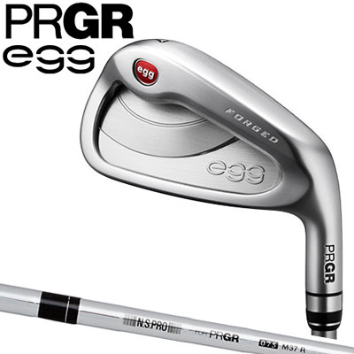 PRGR(プロギア) NEW egg FORGED 単品アイアン (#5、#6、A、As、S) SOFT STEEL スチールシャフト