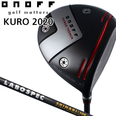 GLOBERIDE (グローブライド) ONOFF -オノフ- 2020 KURO ドライバー LABOSPEC SHAFT SHINARI:50K シャフト