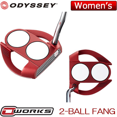 【ゲリラセール開催中】ODYSSEY(オデッセイ) O-WORKS RED レディース パター 2-BALL FANG