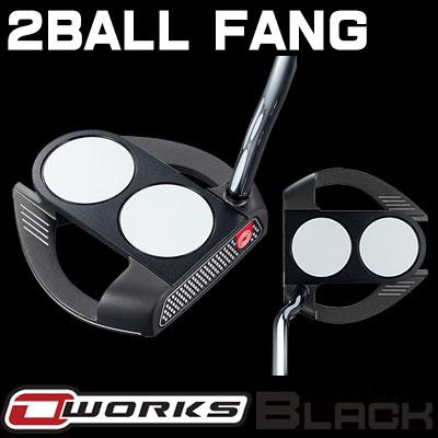 【ゲリラセール開催中】ODYSSEY(オデッセイ) O-WORKS BLACK パター 2-BALL FANG 【日本正規品】