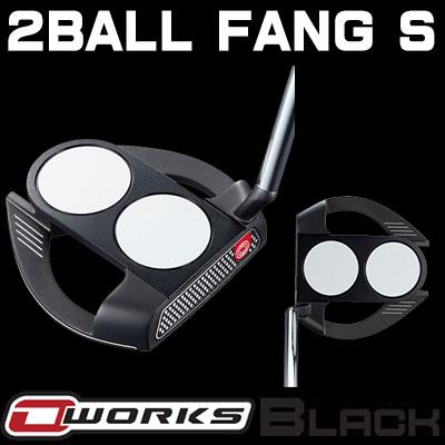 【ゲリラセール開催中】【あす楽可能】ODYSSEY(オデッセイ) O-WORKS BLACK パター 2-BALL FANG S 【日本正規品】