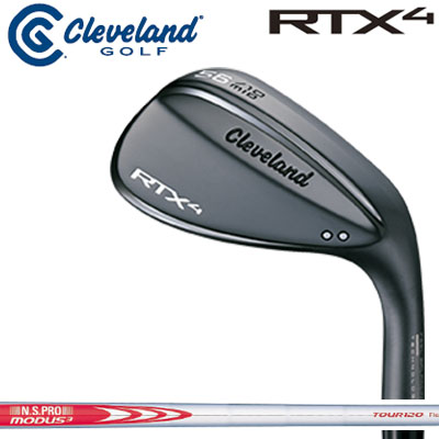 Cleveland(クリーブランド) RTX4 ブラックサテン ウェッジ N.S.PRO MODUS3 TOUR120 スチールシャフト