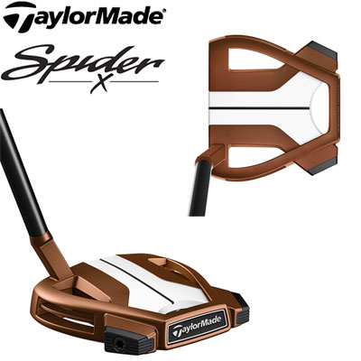 TaylorMade(テーラーメイド) Spider X COPPER/WHITE SMALL SLANT -スパイダーX カッパー- パター