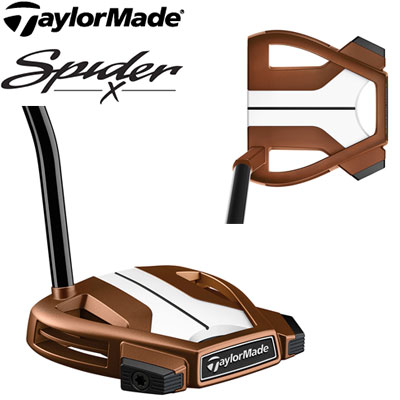 TaylorMade(テーラーメイド) Spider X COPPER/WHITE SINGLE BEND -スパイダーX カッパー- パター