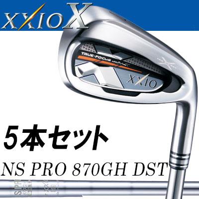 DUNLOP(ダンロップ) XXIO X -ゼクシオ テン- アイアン 5本セット (#6~9、PW) N.S.PRO 870GH DST for XXIO スチールシャフト [カラー:ネイビー]