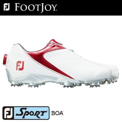 FOOTJOY(フットジョイ) FJ SPORT Boa 2018 メンズ ゴルフシューズ 53143 ホワイト/レッド (W)